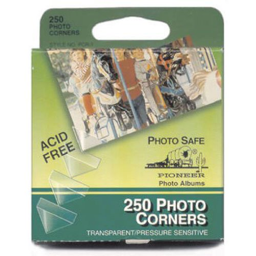 Pioneer PCR-1 Photo Corners Self Adhesive, Clear, 250-Pack,Multicolor