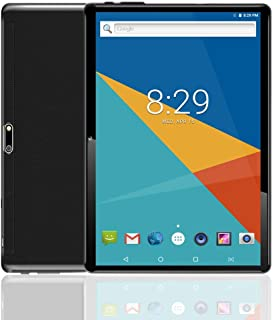 10 Inch Android 7.0 Nougat Tablet IPS Glass Screen with Dual Sim Card Slots Octa Core 3G Unlocked Phone 4GB RAM 64GB ROM Built in WiFi Bluetooth GPS Netflix Black