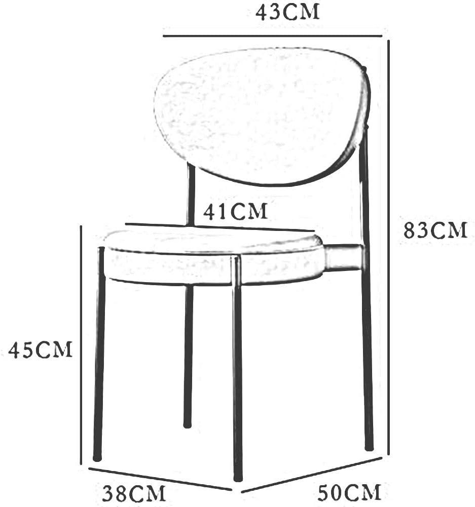 DALL Chaises De Salle À Manger Jambes en Métal Chaise De Maquillage Rembourrés Chaise De Dossier Empilable Chaise De Café Meubles De Mode (Color : Orange) Gray