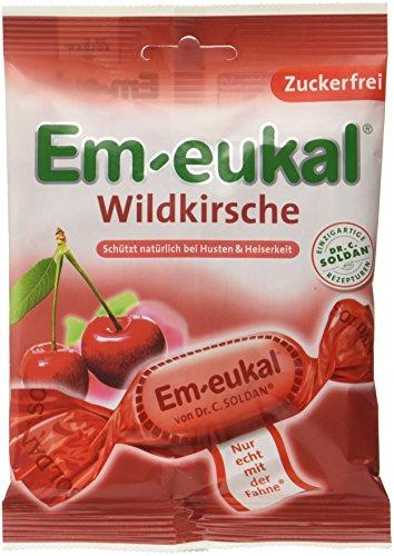 Em-eukal Wildkirsche zuckerfrei , 10er Pack (10 x 75 g)