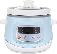 Slow Cooker 1,2 l elektrische stoofpot, huishoudelijke keramische stoofpan, multikoker met reserverefunctie en 6 kookinste...