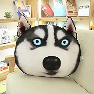 WOIA 3D Printed Simulation Dog Face Plush Toy Pillow Husky Shiba Inu Dog Sofa Pillow Kids Children Toys Birthday Boy Must Haves Boy Gifts Favourite Superhero Party Supplies