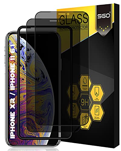 [Full Coverage]SGO Privacy Screen Protector for iPhone 11 / iPhone XR...