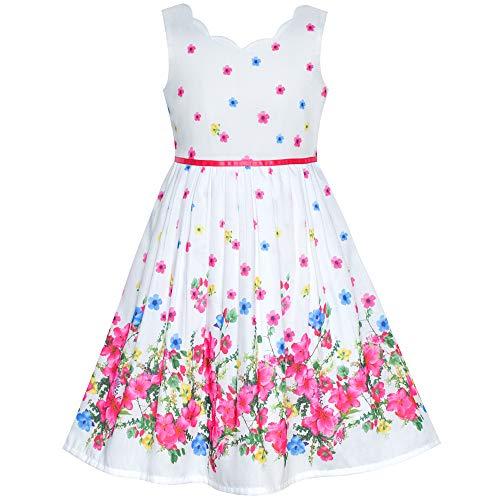 Sunboree Mädchen Kleid Rosa Blume Blütenblatt Sommer Trägerkleid Gr. 134