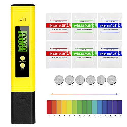 Etercycle pH Messgerät, Wasserqualität Tester mit LCD Anzeige, PH Wert Messgerät ATC Wasserqualität Tester für Trinkwasser, Schwimmbad, Aquarium, Pools und Labor