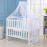 Surakey Mosquitera para bebé, protección contra insectos para cunas, cunas o parques, color rosa