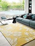 Benuta Naturfaserteppich für Wohnzimmer und Schlafzimmer Alfombra, Lana, Amarillo, 120 x 170 cm
