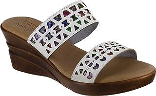 Easy Street womens Sandal,White,6 N US