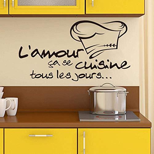 Franse keuken Stickers Vinyl muurstickers verwijderbare behang muurschildering op de muur papier kunst keuken tegel Decal Home Decor 80x50cm