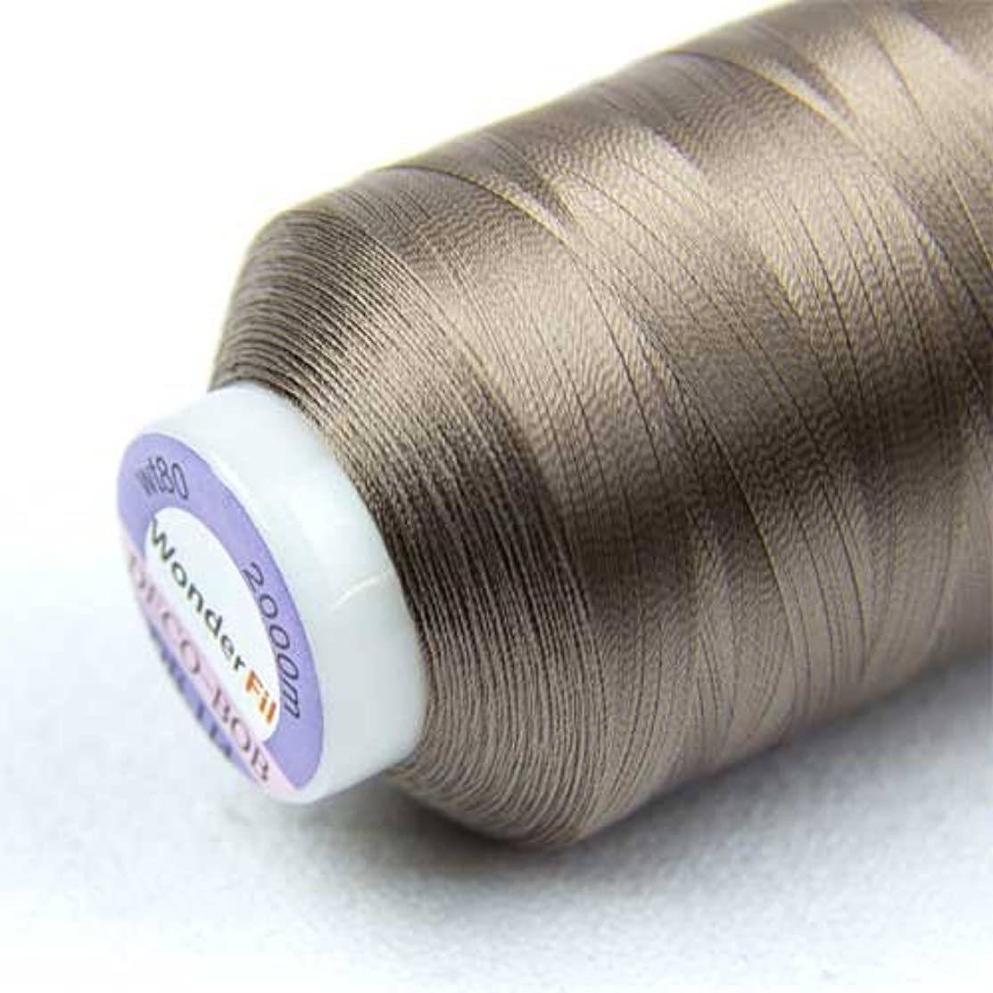 WonderFil Specialty Threads DecoBob Brown-Grey, 2-ply Cottonized Polyester, 80wt