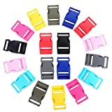 1 Inch Plastic Buckles, YGDZ 18pcs Side Release Buckles Colorful Heavy Duty Plastic Buckles for Backpack Belt Sewing Fanny Pack