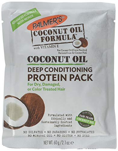 Palmers Coconut Hair Oil Formula With Deep Hair Conditioning Protein Pack , 2.1 Oz ( Pack of 2 )