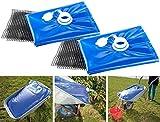 AGT Wassersack Camping: 2er-Set Wasserbehälter für die Schubkarre, 80 Liter (Wasserblase für...
