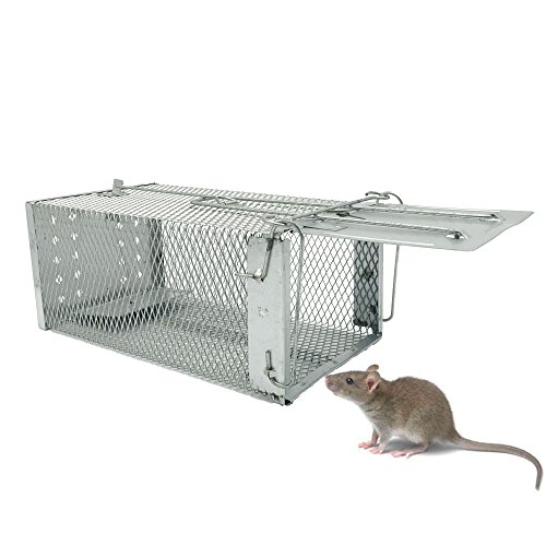 Rodent Mouse Rat Trap Humane Small Animal Trap, Live Cage for Mice Hamster Mole Weasel Gopher Chipmunk Control 27.5x15x12cm