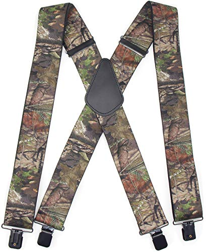 Camo Suspenders for Men & Women Tactical Style 2' Wide Big & Tall...