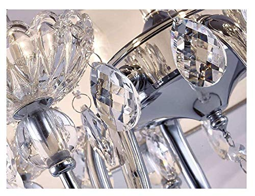 Arañas Duraderas Moderna Cristal Cristal De Cristal Lámpara De Tela Simple Lámpara De Techo Luz De Techo para Sala De Estar Corredor Restaurante Colgante De Iluminación Hyococ (Color : 45cm)