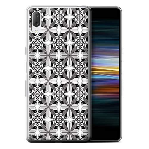 eSwish telefoonhoesje/Cover/Skin/SXP-GC/Black Fashion Collection Sony Xperia L3 2019 Symmetrie Tegels