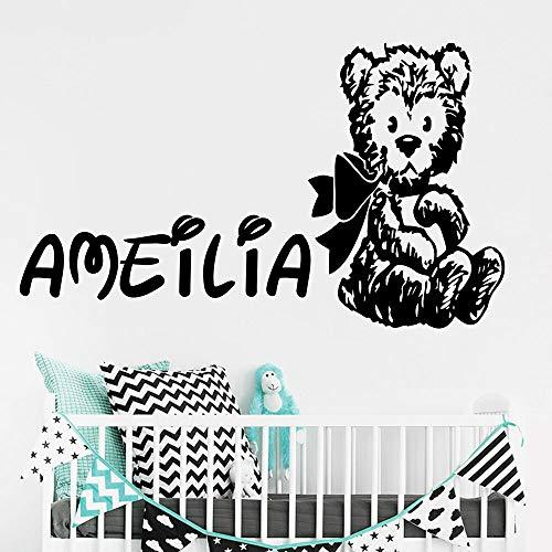 YuanMinglu Bär Wandaufkleber Kinderzimmer Tier Bär Zoo Vinyl Wand Dekor Schlafzimmer Dekoration 56x33 cm