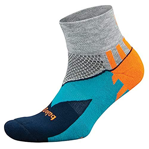 Balega Enduro V-Tech Quarter Socks For Men and Women (1 Pair), Midgrey/Ink, Large