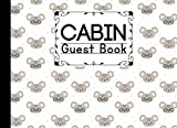 Cabin Guest Book: Cute Mouses Cover Cabin Guest Book, Welcome to our cabin, 150 pages - 8.25' x 6' inch size Guest Log Book for Vacation Rental and more