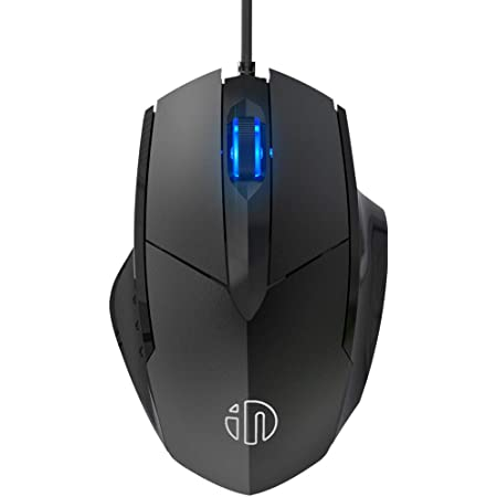 Inphic Wired USB Mouse, Silent Click and Optical Tracking,1200DPI, 3-Button, Corded Mouse for PC Computer Laptop MacBook Office, Black