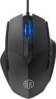 INPHIC Ratón USB Clic silencioso con Cable, Seguimiento óptico, 1200DPI, Mouse de Oficina de 3 Botones para computadora portátil, computadora