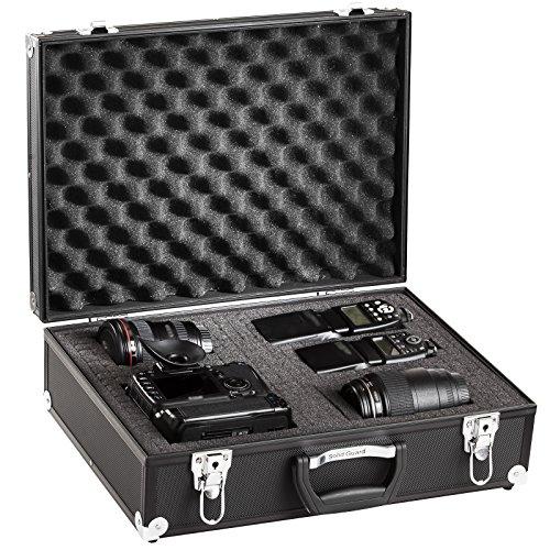 BRUBAKER Alukoffer Fotokoffer mit Schaumstoff - 20 L - Schwarz