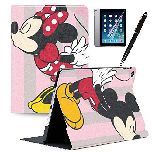Y2PKZISTORE iPad 10.2 Case iPad 7th Generation 10.2' 2019 Cover Mickey and Minnie Cute Cartoon Case PU Leather Stand Protection Smart Auto Sleep/Wake Cover for iPad 10.2 2019#D