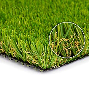 SMARTLAWN PROFESSIONAL Realistic Artificial Grass Rug, 2'X4′ Carpets for Indoor and Outdoor Use, 1.25″ Pile Height Soft and Lush Natural Looking Synthetic Mats