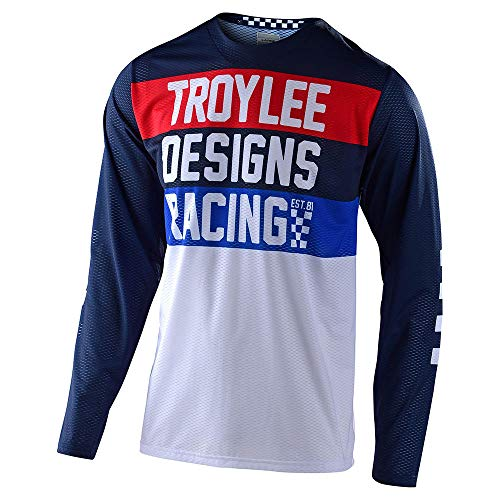 Troy Lee Designs Mens | Offroad | Motocross | GP Air Continental Jersey (Navy, Large)