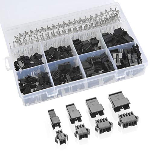 QLOUNI 560pcs 2.54mm Pitch 2 3 4 5 Pin JST SM 2 3 4 5 Pin Male/Female Plug Housing Male/Female Pin Header Crimp Terminals Connector Kit