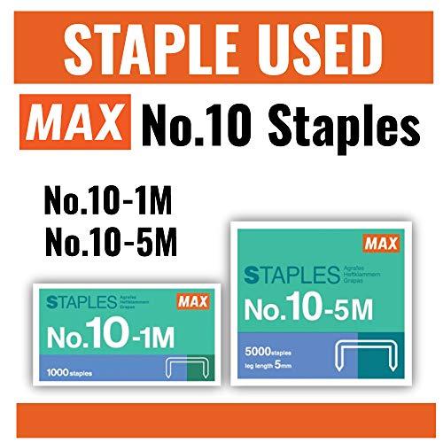 MAX MAX HD-10FL Blue Flat-Clinch Light Effort Stapler Blue Photo #2