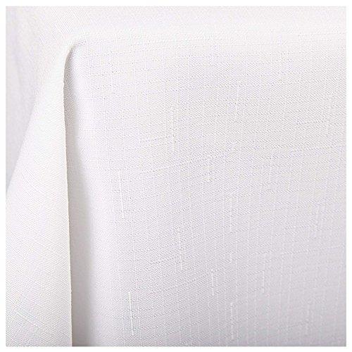 Tischdecke Wien, weiß, 130x160 cm, Fleckschutz, Tischdecke für das ganze Jahr