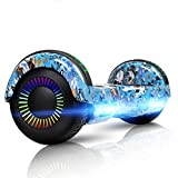 LIEAGLE Hoverboard with Bluetooth Self Balancing Scooter Hover Board for Kids Adults with UL2272 Certified, Wheels LED Lights (Blue Skeleton)