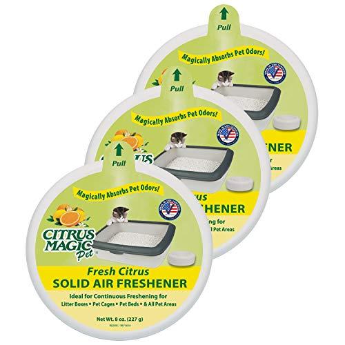 Citrus Magic Pet Odor Absorbing Solid Air Freshener, Fresh Citrus, 8-Ounce, Pack of 3