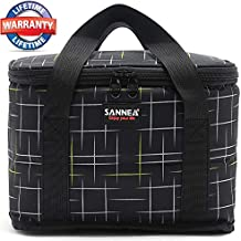 Lunch Bags for Men Insulated Lunch Bag Bento Box Lunch Tote Bag Lunch Containers Lunch Box Ice Packs Lunchbox for Men&Boys Meal Prep Lunch Bags for Office School Picnic Black