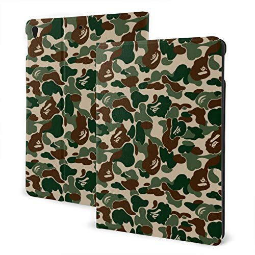 Ipad 2019 7th Generation 10.2 Inch Case, Ipad Air 3 10.5 Inch Case, Camouflage Color Leather Full Body Protective Covers, Adjustable Stand with Auto Wake/Sleep
