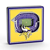 YouTheFan NFL Minnesota Vikings - U.S. Bank Stadium 3D StadiumView Magnet3D StadiumView Magnet, Team Colors, Small (8493410)