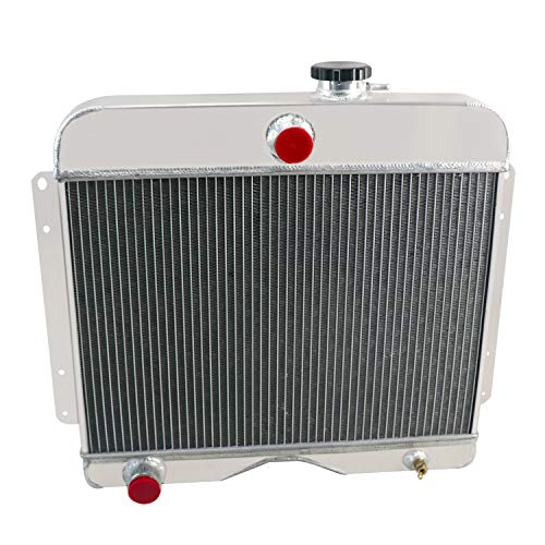 OzCoolingParts 4 Row Core All Aluminum Radiator for 1946-1964 47 48 49 50 51 52 53 54 55 56 57 58 59 60 61 62 63 Jeep Willys Truck/Willys Station Wagon L4 L6 Gas Manual