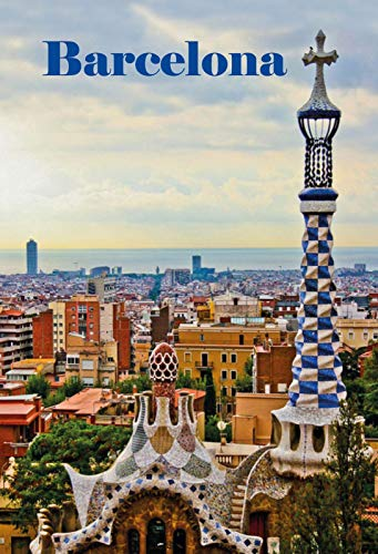Schatzmix Barcelona Plaque métallique décorative 20 x 30 cm Multicolore 20 x 30 cm