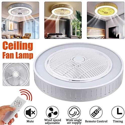 Llds LED Ventilator Verstelbare Plafond Met Verlichting Plafond Ventilator Aan Het Plafond Lamp Met Regelaar 3-Speed Windsnelheid Slaapkamer Remote Invisible Children Silent Fan