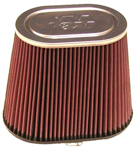 K&N Universal Clamp-On Air Filter: High Performance, Premium, Washable, Replacement Filter: Flange Diameter: 4 In, Filter Height: 7.5 In, Flange Length: 1.5 In, Shape: Oval Straight, RF-1040
