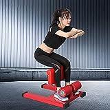 Tim-LI Máquina de Sentadillas Máquina de Ejercicios para piernas Equipo de Fitness Sissy Squat con Espuma Protectora y Medidas Antideslizantes para Entrenamiento de Gimnasio en casa Negro-Negro