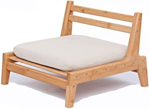 ZEN'S BAMBOO Floor Seat Chair for Living Room Japanese Balcony Chair with Cushion Accent Furniture