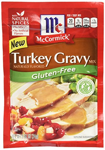 McCormick Turkey Gravy Mix, Gluten Free, 0.88 OZ (Pack of 6)