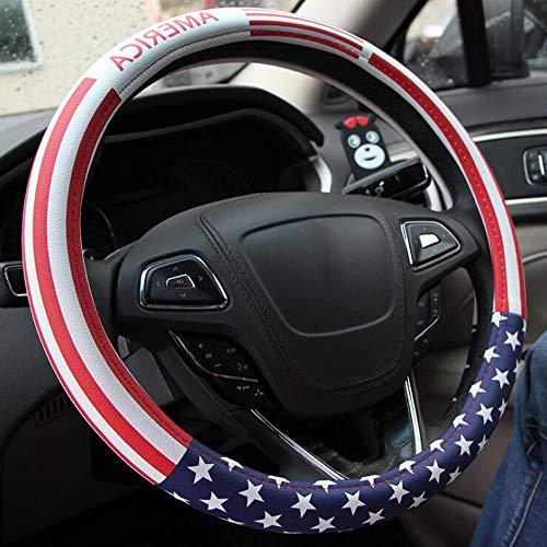 Carmen American US Flag Steering Wheel Cover Best Festival Gift Universal 15 Inch