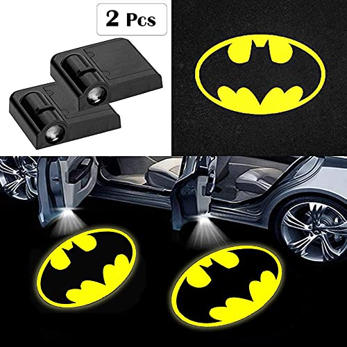 Fit for Batman Car Door Lights Logo Projector,2 Pcs Batman Led Laser Door Shadow Light Welcome Projector Lamp,Fit for All Brands of Cars - No Drilling Required