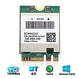 For macOS PC WiFi Card BCM94352Z M.2 NGFF 802.11a/b/g/n/ac 2.4GHz 5GHz BT4.0 1200Mbps Wireless Adapter for Windows 7/8/8.1/10 mac OS DW1560