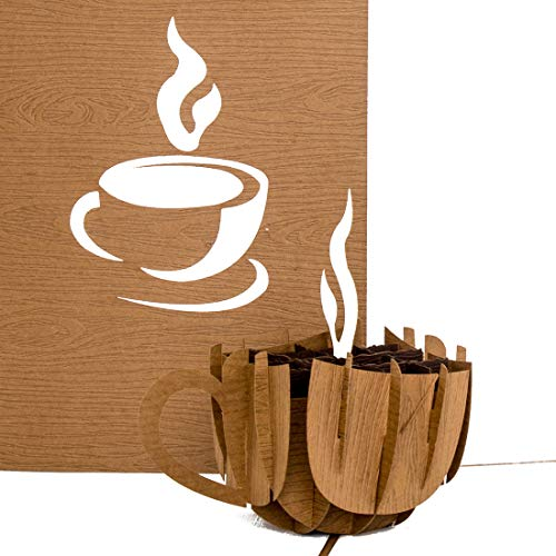 Pop Up Karte Coffee Cup - Kaffeetasse - Gutschein, Geburtstagskarte, Geschenkgutschein & Einladung zum Kaffee, Kaffeeklatsch