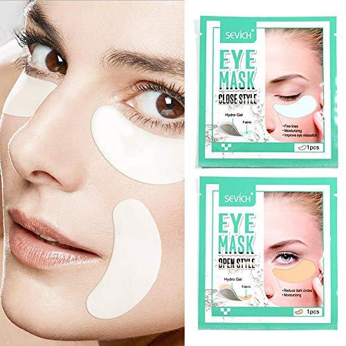 Global Qi Collageenapplicatie onder de ogen, anti-aging masker, pads voor gezwollen tassen en ogen, kringen rond de ogen en rimpels, met hyaluronzuur, hydrogel